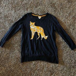 Fox Long Sleeve Sweater